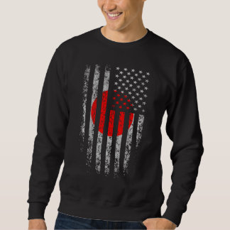 Grunge japonés de la bandera americana sudadera