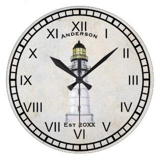 Grunge náutico del gris del reloj de pared del