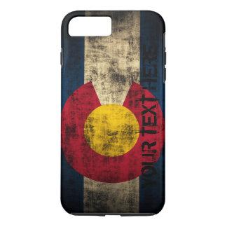 Grunge personalizado del vintage de la bandera de funda iPhone 7 plus
