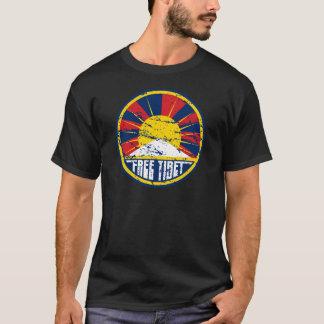 Grunge redondo libre de Tíbet Camiseta