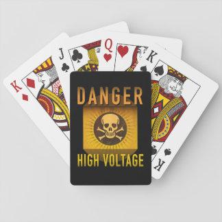Grunge retro de alto voltaje de la edad atómica baraja de cartas