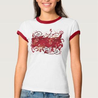 grunge rojo camiseta