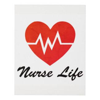 Grunge rojo del corazón de la vida EKG de la Cuadro