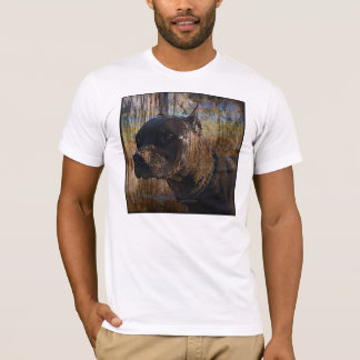 Grunge Staffordshire Terrier americano Pitbull Camiseta