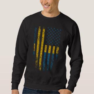 Grunge sueco de la bandera americana sudadera