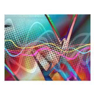 Grunge urbano enrrollado de la pintada texturizado tarjeta publicitaria