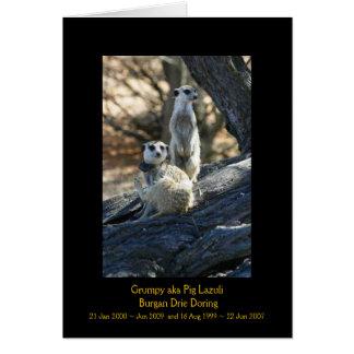 Gruñón y Burgan - tarjeta de las leyendas