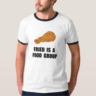 Grupo de alimentos frito camisetas