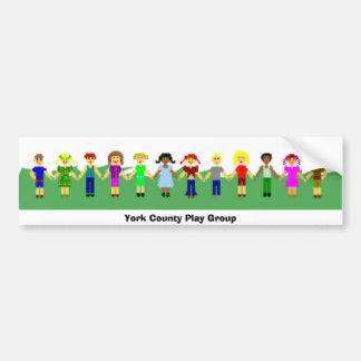 Grupo de juego del condado de York 4 Pegatina Para Coche