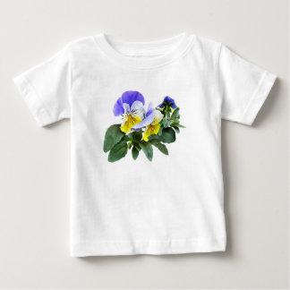 Grupo de pensamientos amarillos y púrpuras camiseta de bebé
