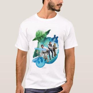 Grupo dentro de Yoda Camiseta