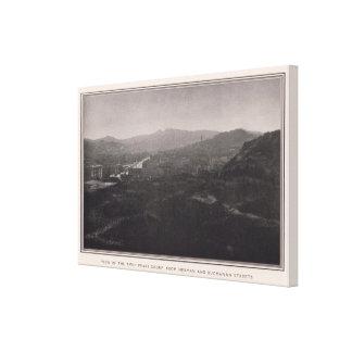 Grupo gemelo de los picos de Herman y de Buchanan Impresiones De Lienzo