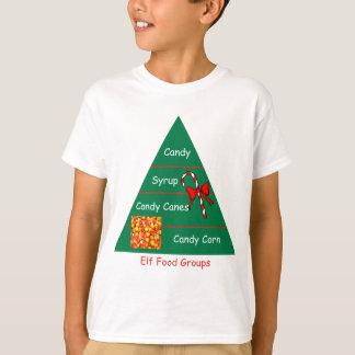 Grupos de alimentos del duende camiseta
