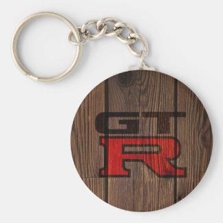 GT-r simulada de madera Llavero