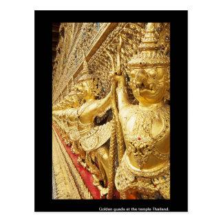 Guada de oro en el templo Tailandia Postal