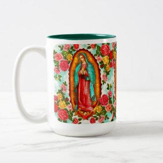 Guadalupe, Taza De Café De Dos Colores