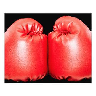 Guantes de boxeo impresión fotográfica