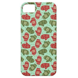 Guantes y copos de nieve divertidos BG verde del Funda Para iPhone SE/5/5s