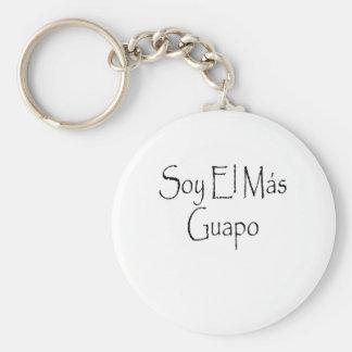 guapo del mas del EL de la soja Llavero Redondo Tipo Chapa