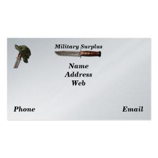 Guardabosques de los infantes de marina de la tarjetas de visita