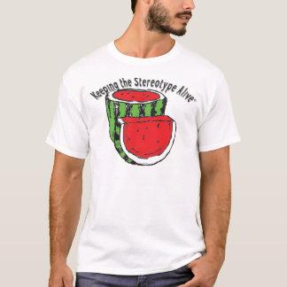 Guardando el vivo estereotipado - sandía camiseta