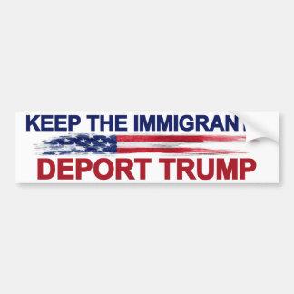 Guarde a los inmigrantes para deportar el triunfo pegatina para coche