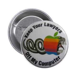 Guarde a sus abogados de mi ordenador chapa redonda 5 cm