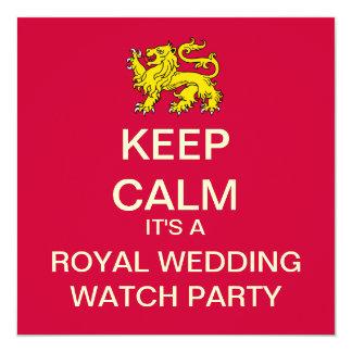 GUARDE al banquete de boda real TRANQUILO para Invitación 13,3 Cm X 13,3cm