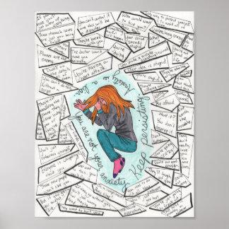 Guarde (ansiedad) 8.5x11 de persistencia póster