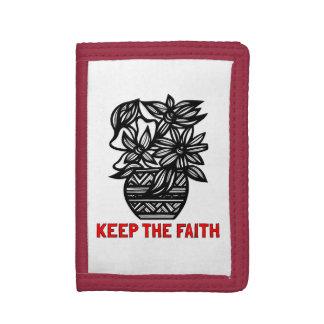 """""""Guarde cartera de nylon triple de la fe"""""""