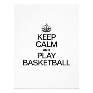 Guarde el baloncesto de la calma y del juego tarjeta publicitaria