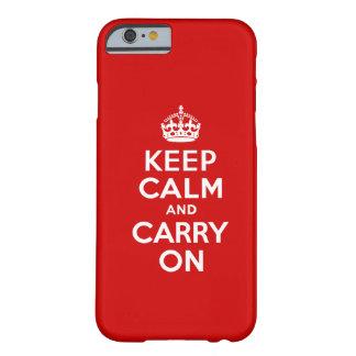 Guarde el caso tranquilo del iPhone 6 Funda Para iPhone 6 Barely There