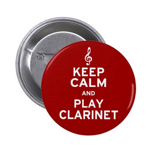 Guarde el Clarinet de la calma y del juego Pin
