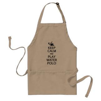 Guarde el delantal del water polo de la calma y de