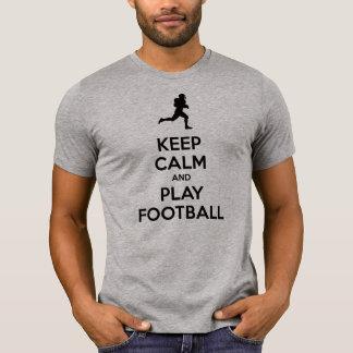 Guarde el fútbol de la calma y del juego (el camiseta