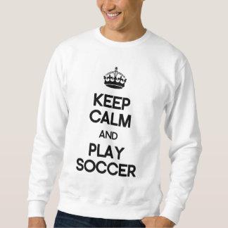 Guarde el fútbol de la calma y del juego sudadera