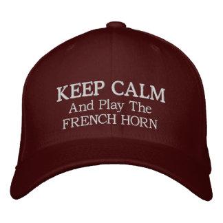 Guarde el gorra bordado música tranquila de la