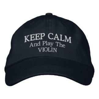 Guarde el gorra bordado música tranquila del gorras de beisbol bordadas