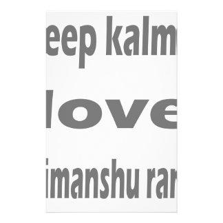 guarde el himanshu del kalm papeleria personalizada