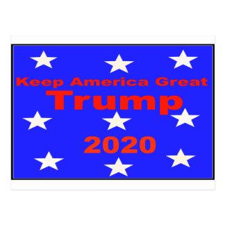 Guarde el lema político del triunfo 2020 de postal