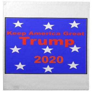 Guarde el lema político del triunfo 2020 de servilleta de tela