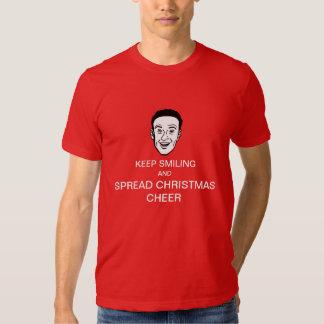 Guarde el sonreír y camisa de la alegría del