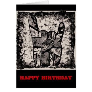 Guarde en tarjeta de cumpleaños oscilante del
