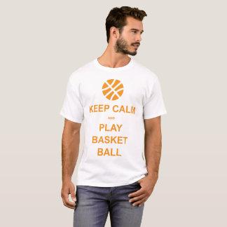 guarde la bola de la cesta de la calma y del juego camiseta