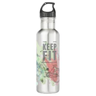Guarde la botella de agua apta (24 onzas), acero