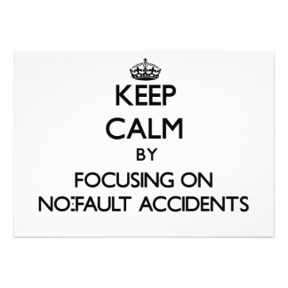 Guarde la calma centrándose en accidentes sin falt