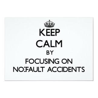 Guarde la calma centrándose en accidentes sin invitación 12,7 x 17,8 cm