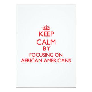 Guarde la calma centrándose en afroamericanos anuncio