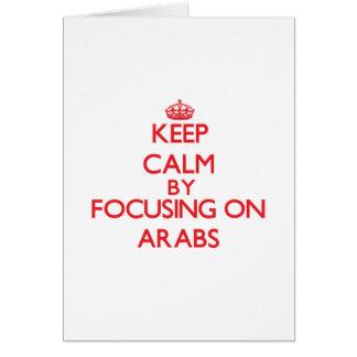 Guarde la calma centrándose en árabes felicitación