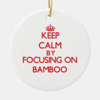 Guarde la calma centrándose en bambú ornamentos de reyes